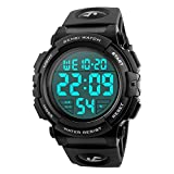 CakCity Herren Digitale Armbanduhr Sportuhr Outdoor wasserdichte Stoßfest große Anzeige LED...