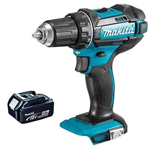 Makita DHP482Z 18V LXT Li-ion Cordless Combi Drill with 5.0Ah BL1850 Battery, 18 V