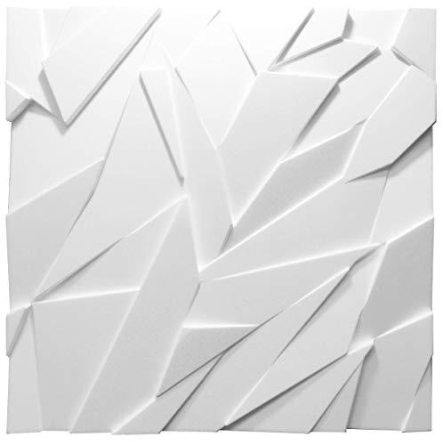 Nuevos Paneles Decorativos De Pared 3D - Tableros de Pared 3D - Revestimiento de Pared 3D - 600 x 600 mm - Sapphire - Blanco (8)