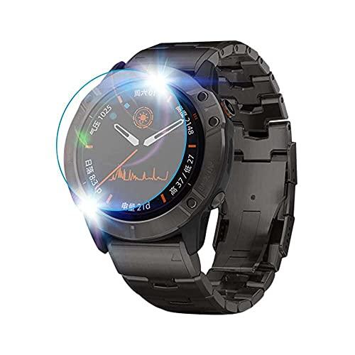 qiaohuan shop Protector de pantalla de vidrio templado para Garmin Fenix 6X Pro, [dureza 9H] [antihuellas, sin burbujas] [Protector de pantalla de vidrio templado para Garmin Fenix 6X Pro Smartwatch
