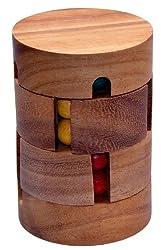 Revolve - Zauberwürfel - Dreh-Puzzle - Kugelpuzzle - Denkspiel - Knobelspiel - Geduldspiel - Logikspiel aus Holz