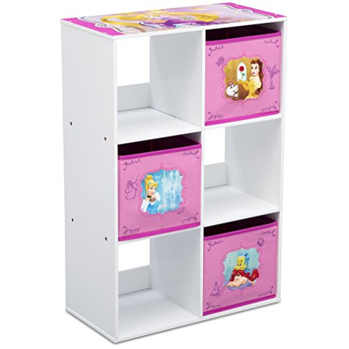 Delta Children 6 Cubby Storage Unit, Disney Princess