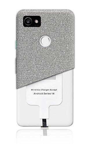 MyGadget Wireless Qi Receiver mit USB Typ C Anschluss (positiv) - Ladeempfänger Type C Adapter für kabelloses Laden z.B. für Samsung Galaxy A3 / A5 (2017)