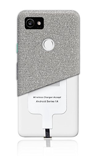 MyGadget Receptor de Carga Qi Inductiva Wireless con Conector USB C - Receiver de Carga Inalambrica para Android Samsung Galaxy S9 S10, Huawei P10 P9, LG G6
