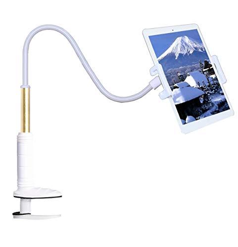 Kasaqua タブレット アーム スタンド タブレット スマホ スタンド アーム フレキシブルアーム iPadスタンド 360回転 土台強化 安定性抜群 4〜11インチに対応 ホワイト KA004