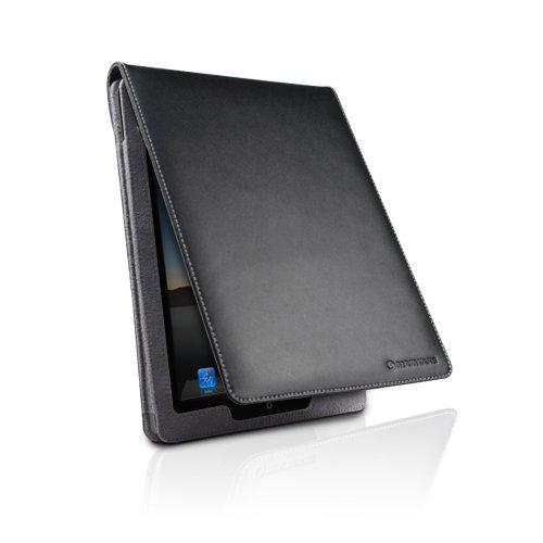 Marware EcoFlip per iPad 2 - Custodia Flip in Ecopelle, Nera