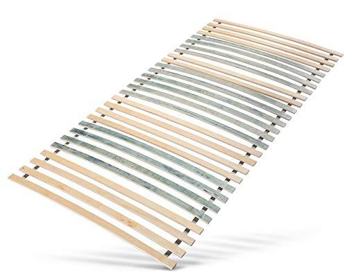 Jekatex Lattenrost 7-Zonen 90x200cm, 140x200cm Rollrost Bettrost Lattenrahmen, FSC® 100% Zertifiziert (90x200cm)