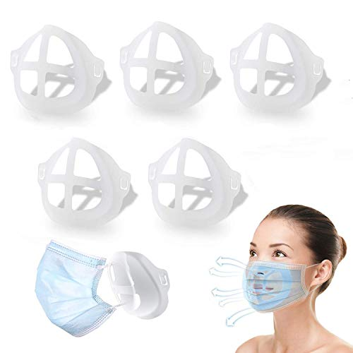 3D Mask Bracket for Comfortable Mask Wearing by Creating More Space for Breathing Ideal Makeup Saver 5 Pack
