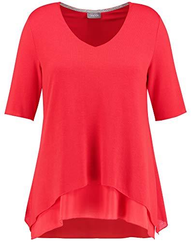 Samoon 471400-29141 Camiseta, Rojo (Lava Red 6110), 52 (Herstellergröße: 52) para Mujer