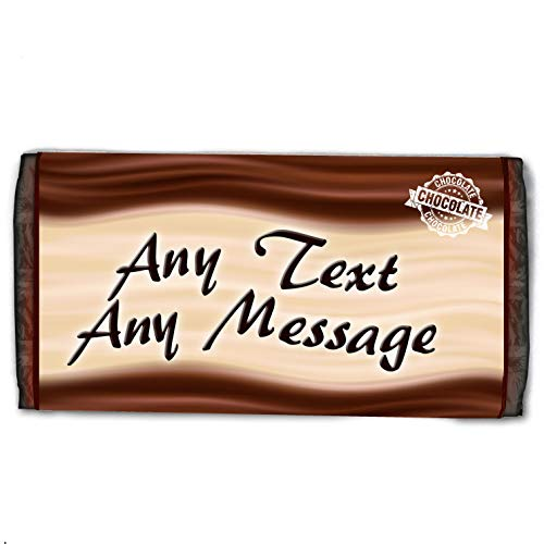 Personalised Chocolate Bar - Your Choice Of Text! - Happy Birthday, Anniversary, Congratulations, Thank You - Birthday Gift Present Idea