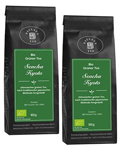 Paulsen Tee Grüner Tee Sencha Kyoto Bio chinesischer grüner Tee 2 x 100g
