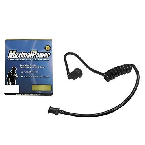 MaximalPower Spiral-Akustikröhre für Zweiwege-Funküberwachung und Hörhörer, Schwarz