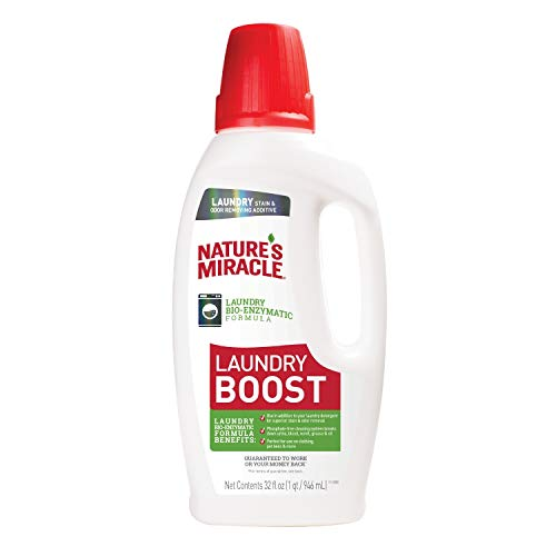 Nature's Miracle Laundry Boost 32 fl oz, Laundry Bio-Enzymatic Formula, Breaks Down Urine, Blood,...