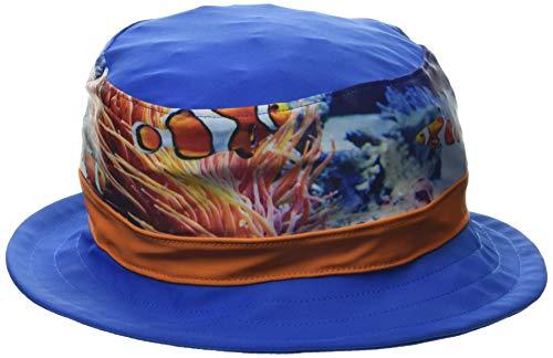 Playshoes Jungen UV-Schutz Fischerhut Unterwasserwelt Sonnenhut, Blau, 53cm