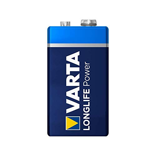 VARTA Longlife Power 9V Block 6LR61 Batterie (1er Pack) Alkaline E-Block Batterien - ideal für Feuermelder Rauchmelder Stimmgerät