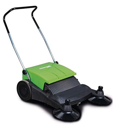 Cleancraft Handkehrmaschine HKM 800 (zwei Seitenbesen, Breite 800 mm, Antrieb manuell, 40 L Kehrgutbehälter), 7304008