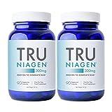 TRU NIAGEN Nicotinamide Riboside NAD + Suplemento para la reducción del cansancio y la fatiga, fórmula patentada NR más eficiente que NMN, 300 mg por dosis 90 días (6 meses / 2 frascos)