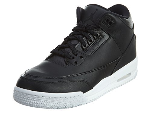 Jordan Retro 3 Basketball Gradeschool Kid's Shoes Size 4 Black/Black/White
