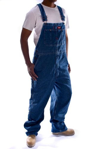 Dickies - Latzhose, Denim - Stonewashed jeans- latzhosen männer jeanslatzhose