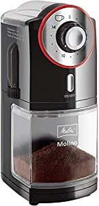 Melitta 1019-01 molinillos de cafe, 100 W, 0.2 kg, Negro/Rojo