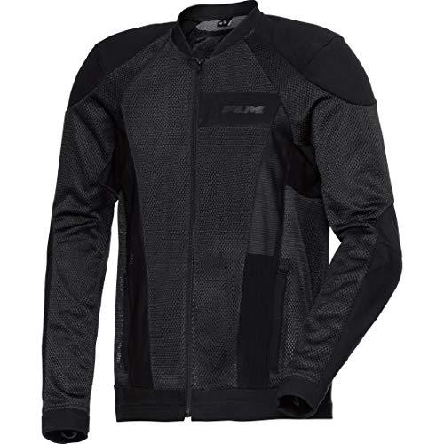 FLM Motorradjacke mit Protektoren Motorrad Jacke Sommer Textiljacke 3.0 schwarz L, Herren, Sportler, Ganzjährig