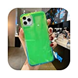 Candy Rainbow Color Fluorescent Luminous Neon Sand Case For iPhone 11 Pro XR XS Max X 6 6S S S 7 8 Plus SE 2020 Liquid Phone Cover-green-for iPhone 8