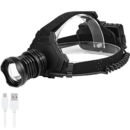 Mjd Hoofdlamp met LED-koplamp met zoom van de lamp, vermogen 5 lichtmodi voor kamperen, vissen