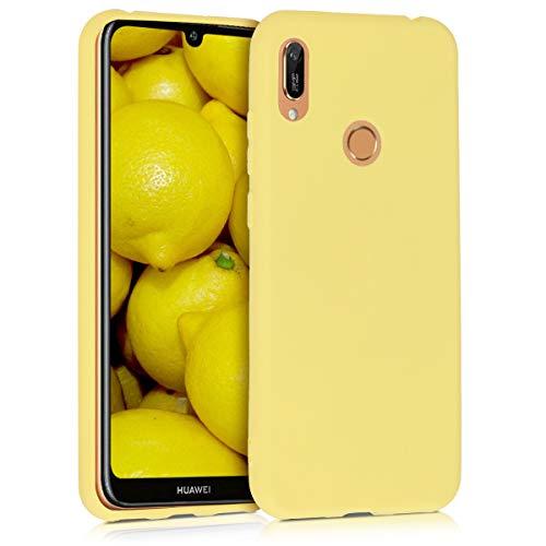 kwmobile Carcasa Compatible con Huawei Y6 (2019) - Funda móvil de Silicona - Protector de TPU en Amarillo Mate