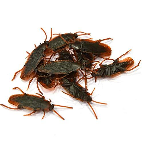 Berrywho Errores tontos Día 10pcs Falsos cucaracha cucarachas Novedad realistas Insectos Buscando FoolsDay Truco Juega el Partido