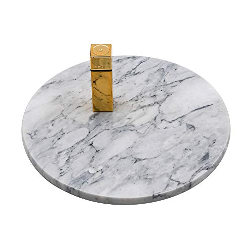 LUANT Circular Marble Vanity Tray for Counter, Bathroom, Dresser, Nightstand or Desk, Diameter 8-3/4 Inches