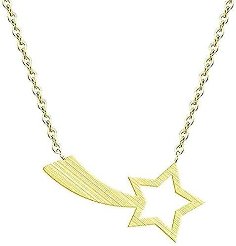 YOUZYHG co.,ltd Collar Steampunk Pentagram Collar Colgante Collar para Mujer Oro Plata Collar de Acero Inoxidable para Hombres Joyería MA