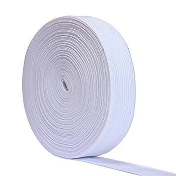 12 Yards Flat Elastic Band Spool Heavy Stretch Sewing Elastic Cord  White 3/4 Inch Width
