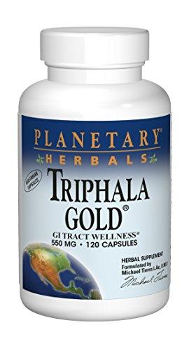 Planetary Herbals Triphala Gold 550mg Cleanser & Tonifier Extra Strength Ayurvedic - 120 Veggi Caps