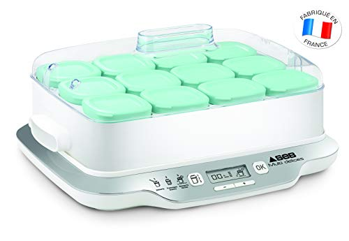 Seb Multidélices Family YG6581FR Yoghurt Maker with 12 Jar White/Metal