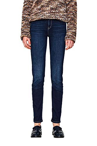 ESPRIT Damen 997EE1B811 Slim Jeans, Blau (Blue Dark WASH 901), 30/30