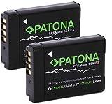 2X Patona Premium - Ersatz für Akku Canon NB-13L (echte 1010mAh) - PowerShot SX620 SX720 SX730 SX740 G1 X III G5 X I II G7 X I II III G9 X I II