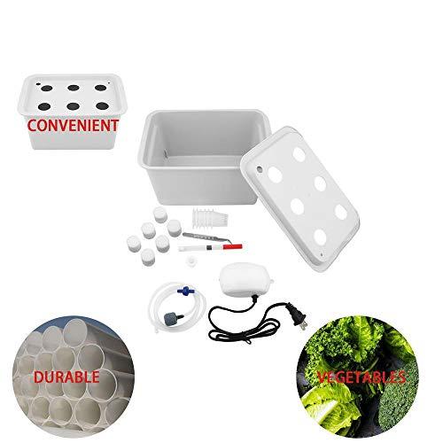6 Löcher 110V Werk Standort hydroponischen Systems, Indoor Garten Cabinet Box Growkit Blase Garten Töpfe Pflanz Nursery Töpfe