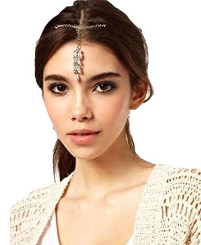 TANAMI Hair, Head Jewllery Supplies for Hair Bead Jewellery Bridal Bindi Tikka Head Dress CZ Rhinestone Crystals Wedding Great for DIY Jewelry Gift for Women Girls