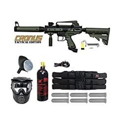 Tippmann Cronus .68 Caliber Paintball Marker Package THE BEST CHOICE FOR ENTRY LEVEL PAINTBALLERS! High performance, low maintenance, reliability, and incredible durability make it one of the most popular paintball markers across the globe. Built wit...