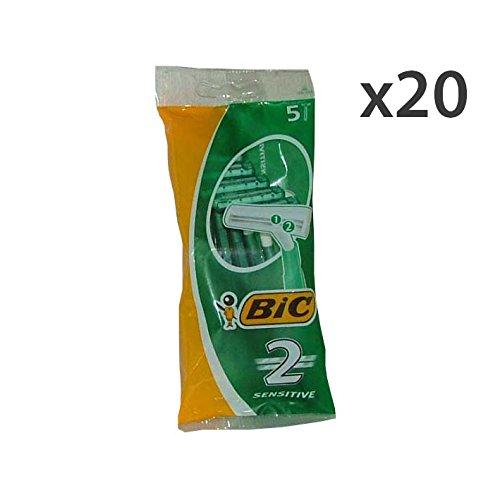 Set 20 BIC Sensitive 2LAME R&G X 5 Pezzi Prodotti per rasatura