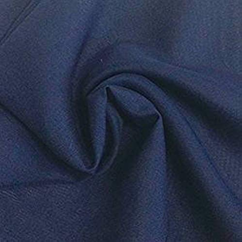 DJBM 59'' Solid Color Sheer Chiffon Fabric Yards Continuous All Colors for DIY Decoration Valance Navy Blue/5 Yards
