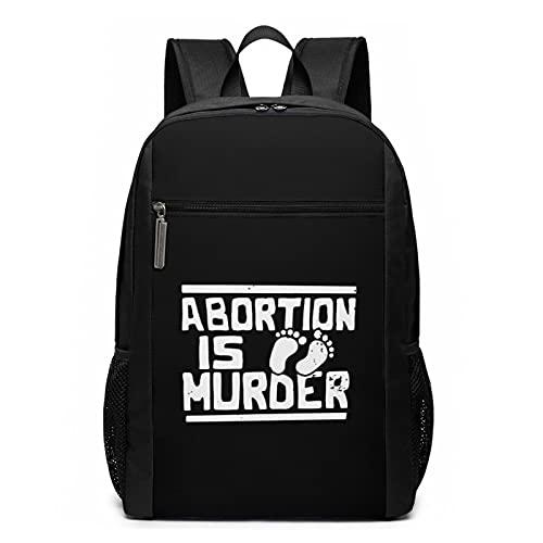 Abortion Is Murder - Mochila de viaje escolar de 17 pulgadas para portátil...