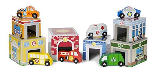 Melissa & Doug- 13576 Colocar Y Clasificar Edificios Y Vehículos, Multicolor , color/modelo surtido
