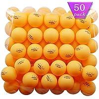 50-Pack Mapol Orange 3-Star Premium Ping Pong Balls