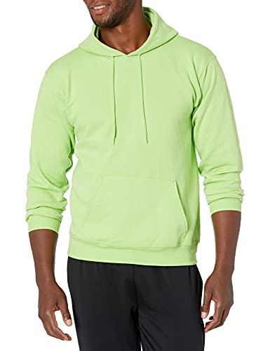 Hanes Men's Pullover EcoSmart Hooded Sweatshirt, lime, Medium