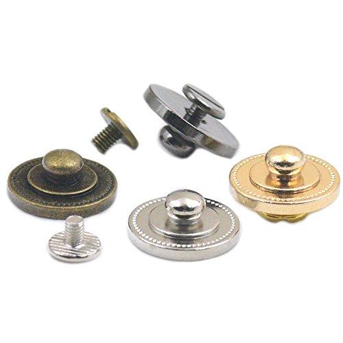 Walfront 20Pcs Bouton Rond de Rivet 6mm Clou de Cuivre de T/ête Ronde en Laiton pour Sac Sangle de Courroie en Cuir de DIY Bronze 8