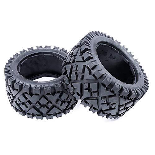 YNSHOU Accesorios de Juguete Piel de neumáticos Traseros Todo Terreno para Coche RC sin Espuma Interior para Piezas de Repuesto HPI Racing Baja 5B 5T 5SC LOSI TDBX a Escala 1: 5