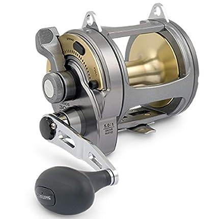 Shimano Tyrnos - Carrete de pesca multiplicador para pesca en alta mar, color negro y dorado Talla:TYR20
