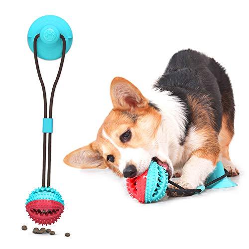 AnNido Hundespielzeug mit Saugnapf, Kauspielzeug, Pet Molar Toy, Multifunktions Spielzeug, Zahnreinigung für Haustiere Hunde, Kauseil Ball Spielzeug, Interactive Welpenspielzeug