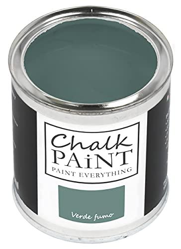 Chalk Paint - Pintura verde humo, 750 ml, sin lijar, colorea fácilmente todos los materiales